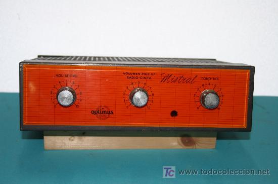 AMPLIFICADOR (Radios, Gramófonos, Grabadoras y Otros - Amplificadores y Micrófonos de Válvulas)