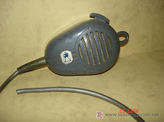 MICROFONO CON INTERRUPTOR Y PARA COLGAR (Radios, Gramófonos, Grabadoras y Otros - Amplificadores y Micrófonos de Válvulas)