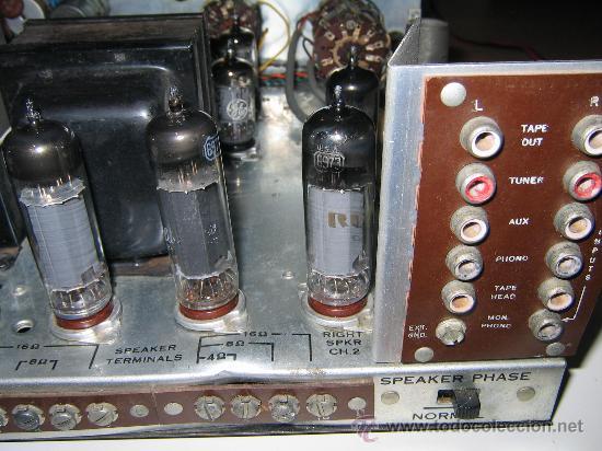 Radios antiguas: Amplificador VALVULAS 56 WATT Hi-Fi vintage MADE IN USA -GENERAL ELECTRIC STEREO CLASIC 7700- - Foto 7 - 22859712