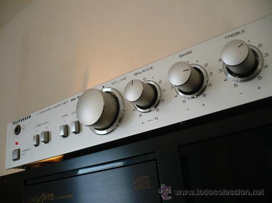 Radios antiguas: TELEFUNKEN RA-100 HI-END VINTAGE INTEGRATED AMPLIFIER - Foto 3 - 24818563