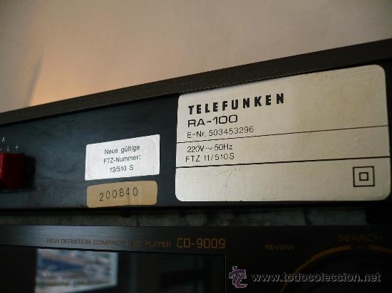 Radios antiguas: TELEFUNKEN RA-100 HI-END VINTAGE INTEGRATED AMPLIFIER - Foto 6 - 24818563