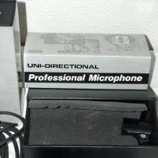 Radios antiguas: DOS MICROFONOS AKIYAMA MODELO UM-616, PROFESIONAL Y UNIDIRECCIONAL. NUEVOS. POCO USO.. Lote 29708549