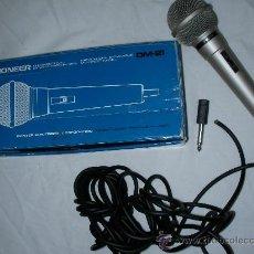 Radios antiguas: MICROFONO DINAMICO UNIDIRECCIONAL PIONEER MADE IN JAPAN NUEVO EN SU CAJA. Lote 27356554
