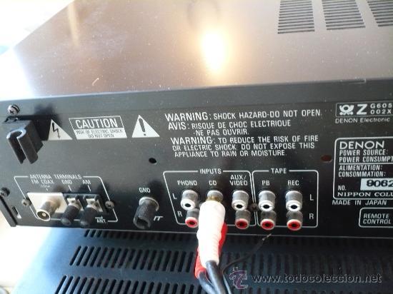 Radios antiguas: DENON HI-END AMPLIFICADOR - RECEIVER -- - Foto 7 - 30440302