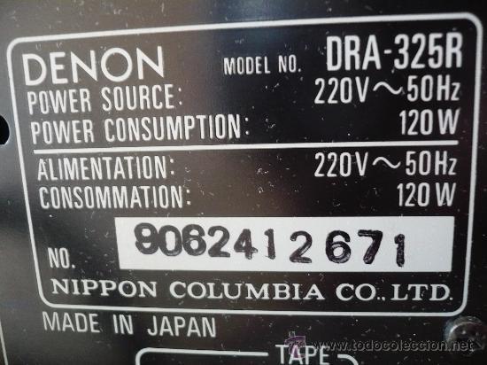 Radios antiguas: DENON HI-END AMPLIFICADOR - RECEIVER -- - Foto 9 - 30440302