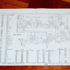Radios antiguas: ESQUEMA DEL AMPLIFICADOR DEL PROYECTOR DE 16 M/M BELL & HOWELL 202 - A VALVULAS LAMPARAS. Lote 28641382