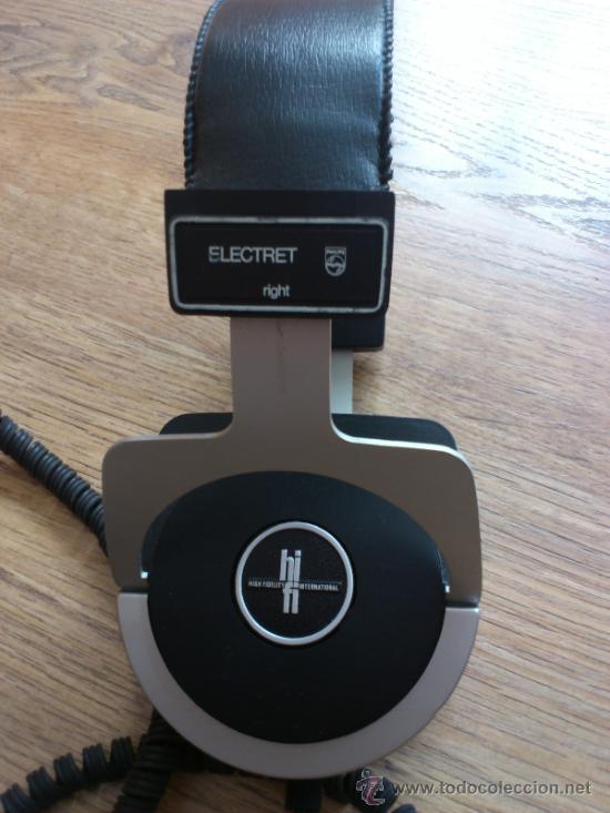 MAGNIFICOS AURICULARESDE ALTA FIDELIDAD VINTAGE PHILIPS ELECTRET N6325 (Radios, Gramófonos, Grabadoras y Otros - Amplificadores y Micrófonos de Válvulas)
