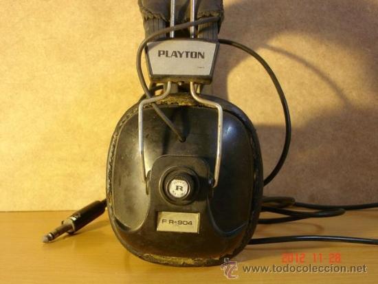 Radios antiguas: Auriculares Playton FR-904 Años 70 - A reparar - Foto 2 - 153650773