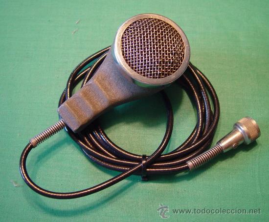 ANTIGUO MICROFONO DE MANO MAGNETICO BAJA IMPEDANCIA....SANNA (Radios, Gramófonos, Grabadoras y Otros - Amplificadores y Micrófonos de Válvulas)