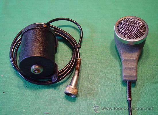 Radios antiguas: Antiguo Microfono de mano magnetico baja impedancia....sanna - Foto 3 - 38403349