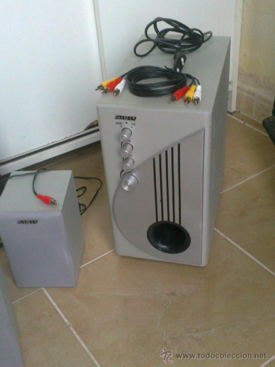 Radios antiguas: EQUIPO DE 4 ALTAVOCES+SUBWOOFER CONTROL PARA DVD-CD . MARCA AIRIS . VER ESTADO - Foto 2 - 38655143