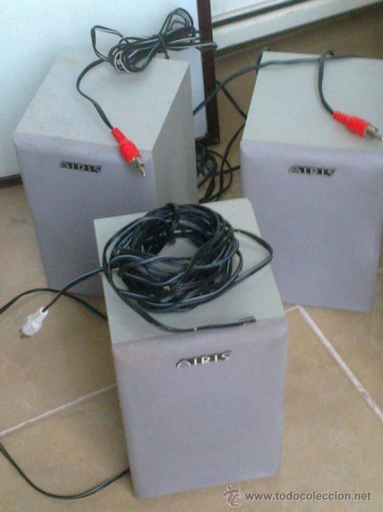 Radios antiguas: EQUIPO DE 4 ALTAVOCES+SUBWOOFER CONTROL PARA DVD-CD . MARCA AIRIS . VER ESTADO - Foto 5 - 38655143