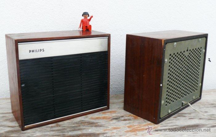 Radios antiguas: LOTE ALTAVOCES MADERA ANTIGUOS PHILIPS IDEAL ACOMPAÑAR RADIO ANTIGUA Y DECORACION VINTAGE - Foto 2 - 112532412