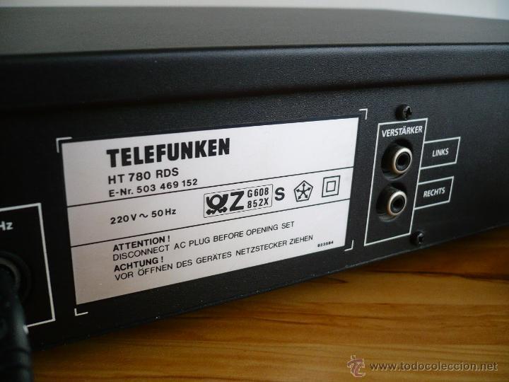 Radios antiguas: TELEFUNKEN HT 780 RDS HI-FI TUNER / SINTONIZADOR / RADIO - 30 MEMORIAS - Foto 2 - 41469999