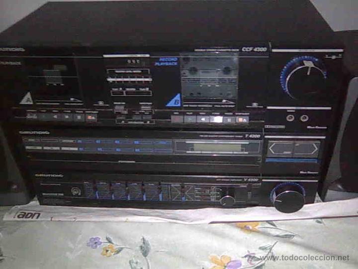 Radios antiguas: EQUIPO GRUNDIG V4200 AMPLIFICADOR doble pletina casette tape y RADIO funcióna todo - Foto 4 - 58072623