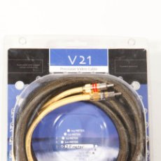 Radios antiguas: KIMBER KABLE V21 PRECISION VIDEO CABLE SOLID CORE COPPER 3M RCA COMPOSITE RGB. Lote 44740367
