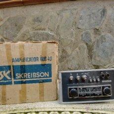 Radios antiguas: RADIO CLASICA PARA COCHE AMPLIFICADOR BUS 43 DE SKREIBSON. Lote 48407796