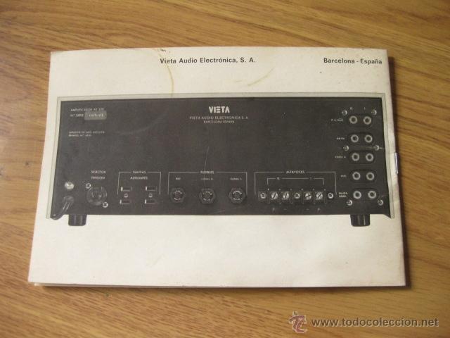 Radios antiguas: INSTRUCCIONES Y HOJA DE ACCESO RAPIDO DEL AMPLIFICADOR VIETA AT-229 - Foto 2 - 49828279