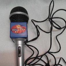 Radios antiguas: MICROFONO PARA KARAOKE EURO JUNIOR . Lote 49960348