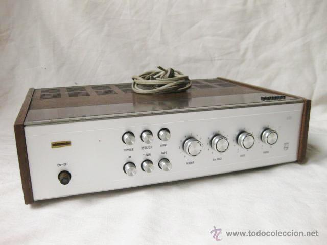 AMPLIFICADOR PHILIPS HIFI 22RH590 A30 - VINTAGE AMPLIFIER 22RH590/00Z - 1969 (Radios, Gramófonos, Grabadoras y Otros - Amplificadores y Micrófonos de Válvulas)
