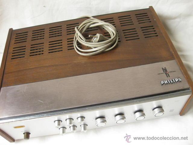 Radios antiguas: AMPLIFICADOR PHILIPS HIFI 22RH590 A30 - VINTAGE AMPLIFIER 22RH590/00Z - 1969 - Foto 4 - 50616853