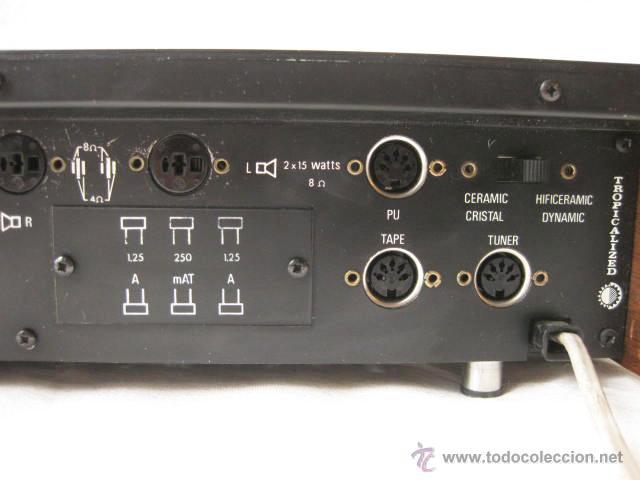Radios antiguas: AMPLIFICADOR PHILIPS HIFI 22RH590 A30 - VINTAGE AMPLIFIER 22RH590/00Z - 1969 - Foto 8 - 50616853