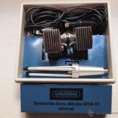 Radios antiguas: MICROFONO STEREO GRUNDING GDSM 331. Lote 53119123