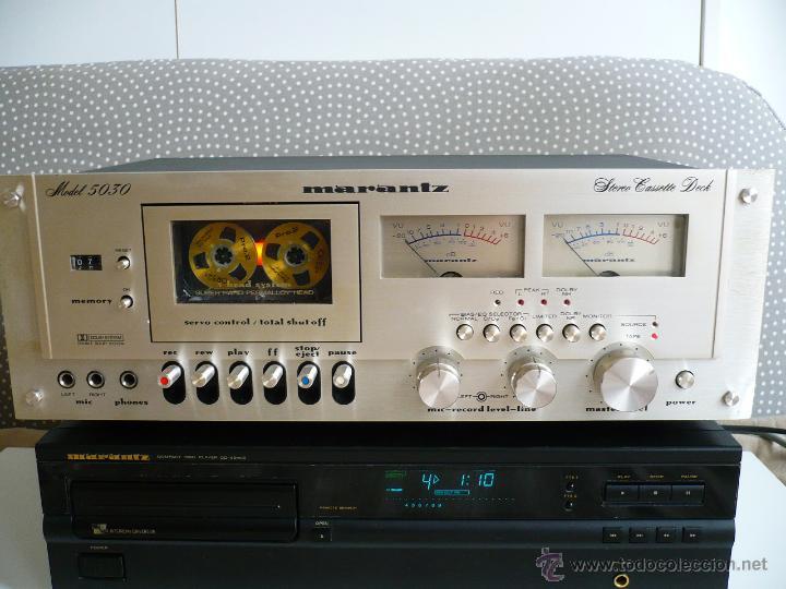 Radios antiguas: MARANTZ 5030 SUPER HARD PERMALLOY HEAD LEGENDARIA PLETINA VINTAGE- 3 CABEZALEZ - Foto 2 - 53210093