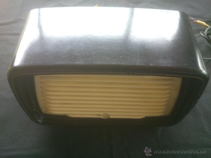 Radios antiguas: Antiguo y muy raro altavoz externo de radio, ELPROM, Bulgaria, baquelita, original. 2 colores. - Foto 3 - 53717039