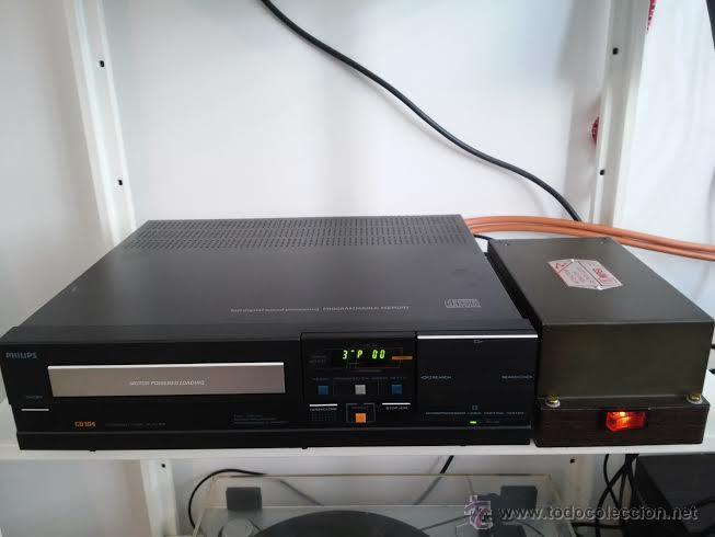 CD PHILIPS 104 MODIFICADO CON EL RELOJ DE VÁLVULAS - ASOMBROSO SONIDO SIN COMPETENCIA (Radios, Gramófonos, Grabadoras y Otros - Amplificadores y Micrófonos de Válvulas)