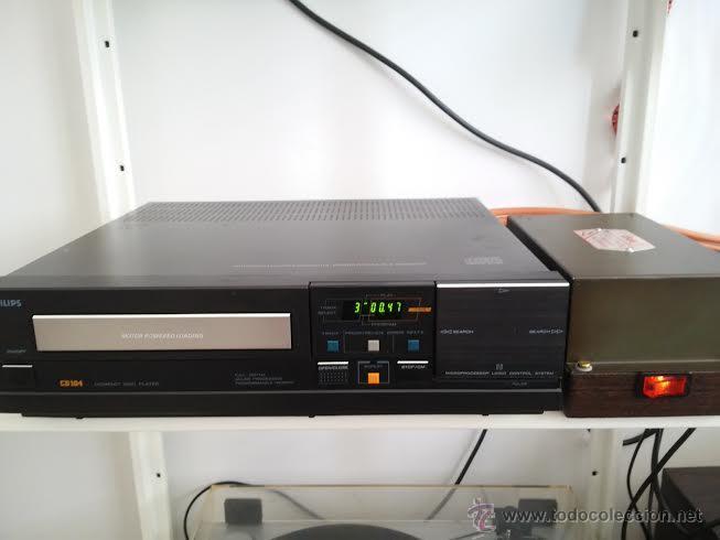 Radios antiguas: CD PHILIPS 104 MODIFICADO CON EL RELOJ DE VÁLVULAS - ASOMBROSO SONIDO SIN COMPETENCIA - Foto 2 - 54974628