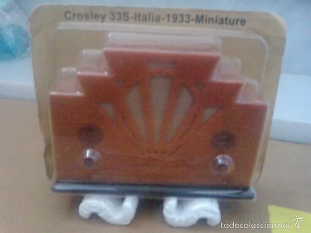 -RADIO EN MINIATURA CROSLEY 33S ITALIA 1933 - EN BLISTER SIN ABRIR -DE COLECCION (Radios, Gramófonos, Grabadoras y Otros - Amplificadores y Micrófonos de Válvulas)
