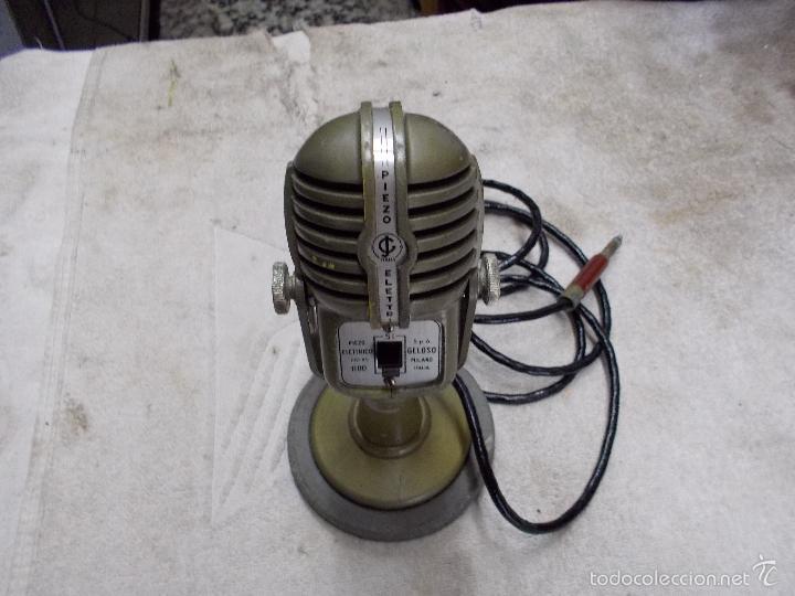 MICROFONO PIEZO ELECTRICO (Radios, Gramófonos, Grabadoras y Otros - Amplificadores y Micrófonos de Válvulas)