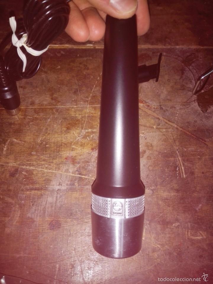 Radios antiguas: Micrófono - Philips Microphone. N 8302. Made in Holland con caja. Está nuevo, con accesorios. Está s - Foto 5 - 60524007