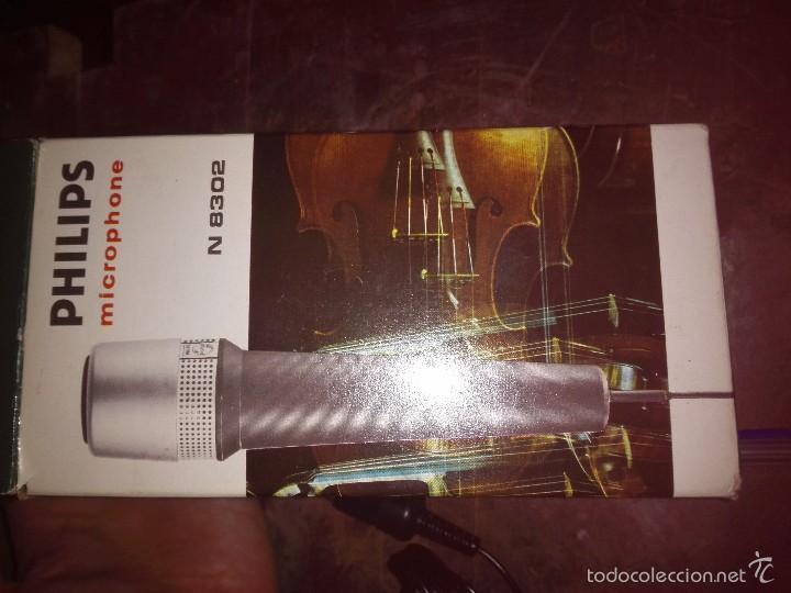 Radios antiguas: Micrófono - Philips Microphone. N 8302. Made in Holland con caja. Está nuevo, con accesorios. Está s - Foto 6 - 60524007