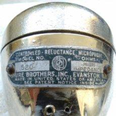 Radios antiguas: CONTROLLED RELUCTANCE MICROPHONE MICRÓFONO SHURE 520 ELEMENTO CONTROLLED RELUCTANCE-FUNCIONA PERFEC. Lote 60765227