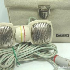 Radios antiguas: MICROFONO DINAMICO ESTEREO - GRUNDIG GDSM 202 - GERMANY AÑOS 60 + ESTUCHE ¡¡FUNCIONANDO¡¡ GRUNDING. Lote 63601344