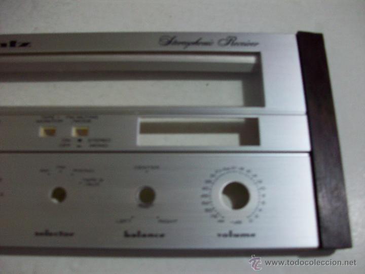 Radios antiguas: MARANTZ SR 1000/ Frontal original, con cristales, del amplificador. - Foto 2 - 71666011