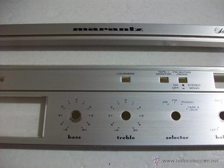 Radios antiguas: MARANTZ SR 1000/ Frontal original, con cristales, del amplificador. - Foto 3 - 71666011
