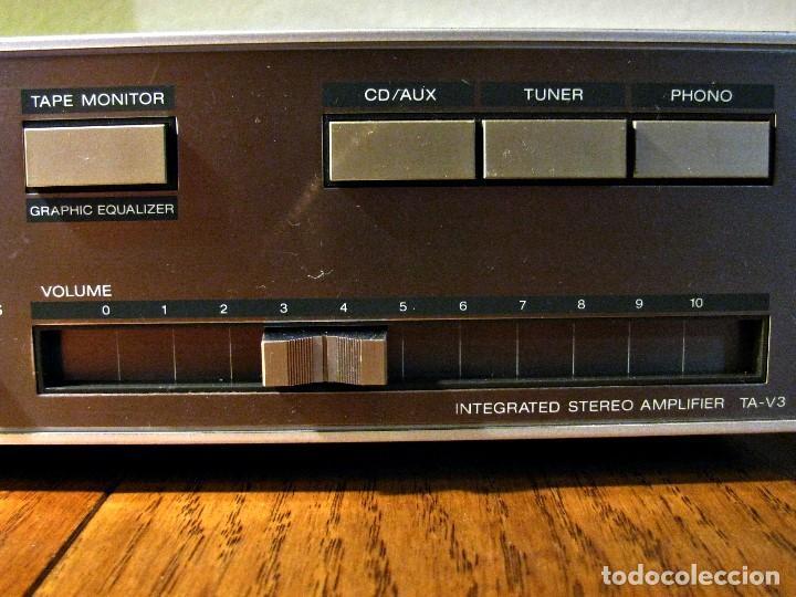 Radios antiguas: AMPLIFICADOR SONY TA V3 revisado y funcionando 33vatios RMS 009% TDH - Foto 6 - 74995023