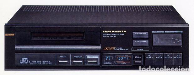 LECTOR CD MARANTZ CD 45 IMPRESIONANTE SONIDO. DOBLE DAC 1540 (Radios, Gramófonos, Grabadoras y Otros - Amplificadores y Micrófonos de Válvulas)