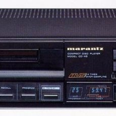 Radios antiguas: LECTOR CD MARANTZ CD 45 IMPRESIONANTE SONIDO. DOBLE DAC 1540. Lote 193670846