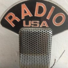 Radios antiguas: ANTIGUA MICRÓFONO VINTAGE RADIO USA. Lote 92349480