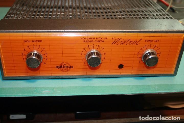 Radios antiguas: amplificador optimus - Foto 2 - 96770971