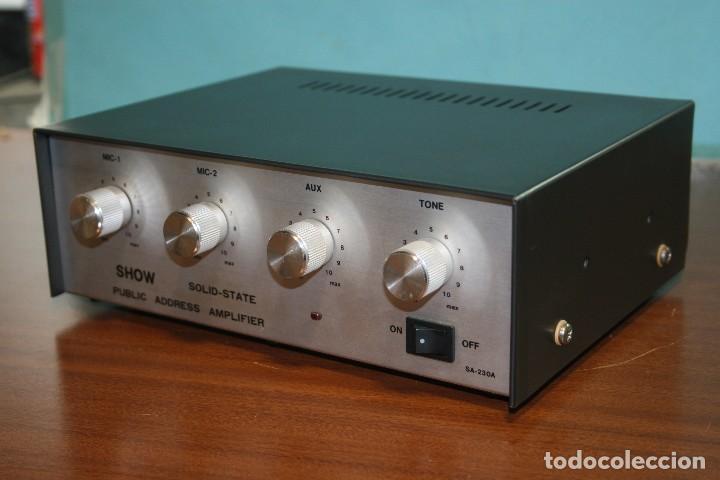 AMPLIFICADOR OPTIMUS A BATERIAS. (Radios, Gramófonos, Grabadoras y Otros - Amplificadores y Micrófonos de Válvulas)