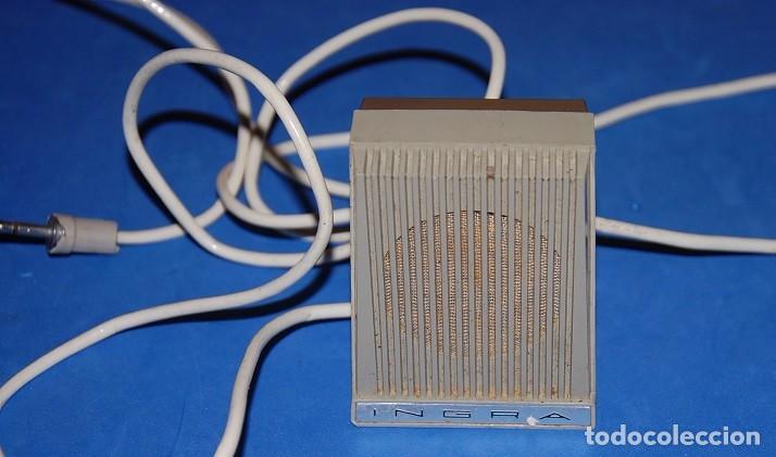 MICROFONO MAGNETOFON SOBREMESA INGRA M101 AÑOS 60 (Radios, Gramófonos, Grabadoras y Otros - Amplificadores y Micrófonos de Válvulas)