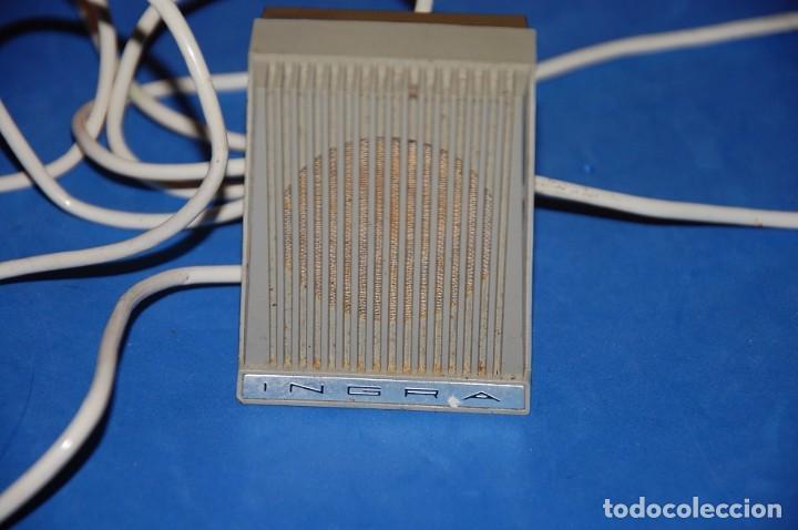 Radios antiguas: MICROFONO MAGNETOFON SOBREMESA INGRA M101 AÑOS 60 - Foto 2 - 97249587