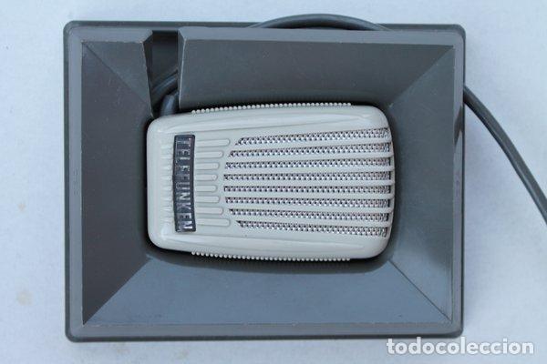 ANTIGUO MICRÓFONO DE TELEFUNKEN. CON SU CAJA ORIGINAL. (Radios, Gramófonos, Grabadoras y Otros - Amplificadores y Micrófonos de Válvulas)