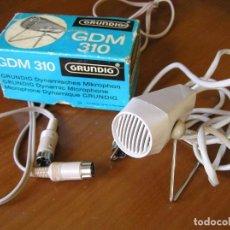 Radios antiguas: MICRÓFONO GRUNDIG EN SU CAJA MICROPHONE MIKROPHON. Lote 100164615
