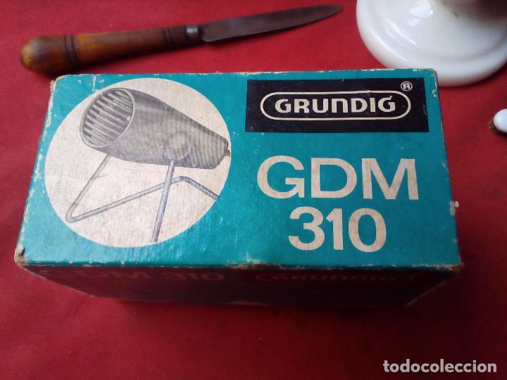 MICRÓFONO GRUNDIG GDM 310 MICROPHONE MIKROPHON (Radios, Gramófonos, Grabadoras y Otros - Amplificadores y Micrófonos de Válvulas)